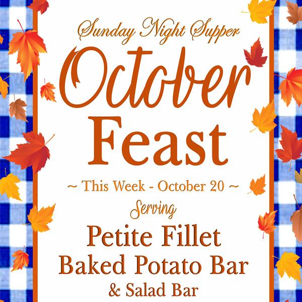 Sunday Supper October 20